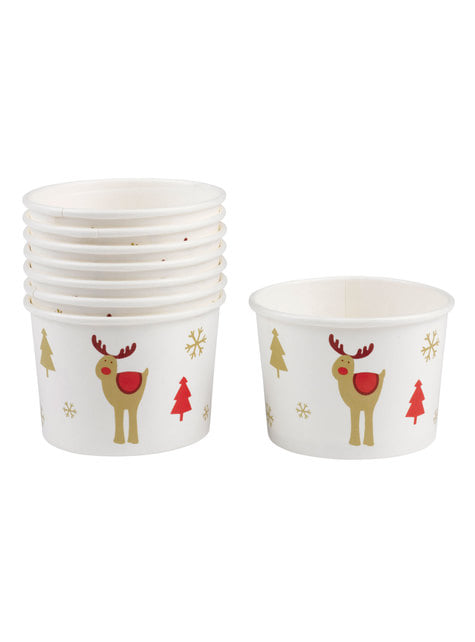Set of 8 reindeer tubs - Rocking Rudolf
