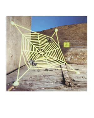 Toile d'araignée fluo avec araignées