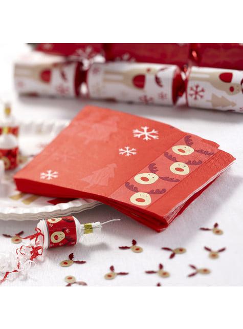 16 servilletas de papel (33x33 cm) - Rocking Rudolf - barato
