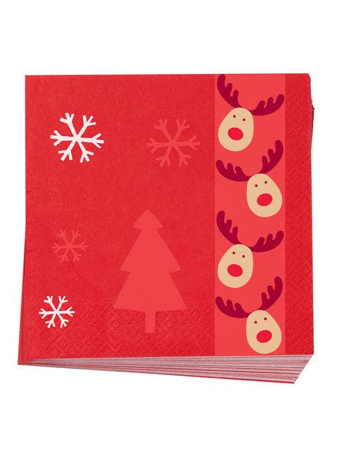 16 servilletas de papel (33x33 cm) - Rocking Rudolf - comprar