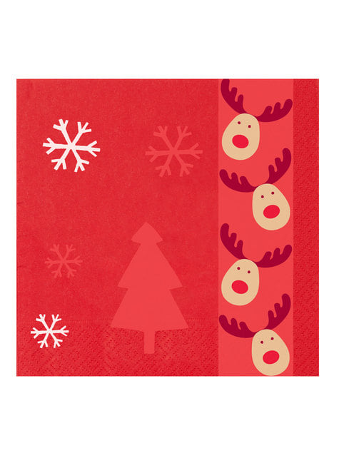 16 servilletas de papel (33x33 cm) - Rocking Rudolf