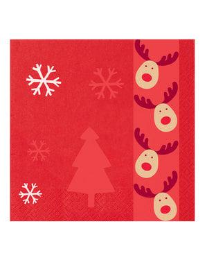 16 papirserviette (33x33 cm) - Rocking Rudolf