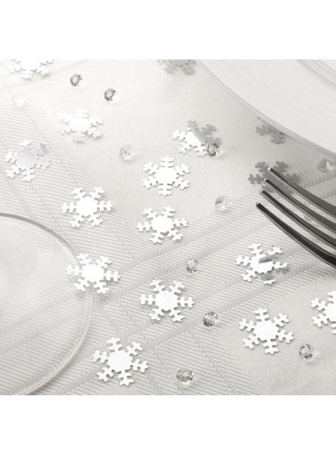 Confeti para mesa copos de nieve - Snowflake - barato