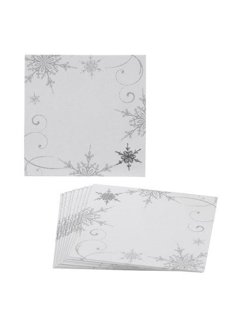 10 marcasitios de papel - Snowflake