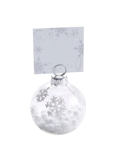 10 étiquettes porte-noms en carton - Snowflake