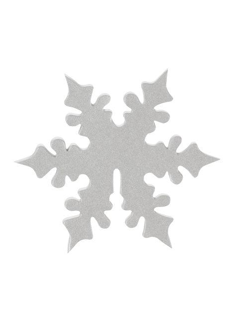 10 décorations pour verres flocon de neige argenté - Snowflake