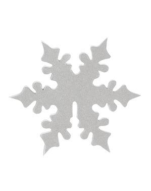10 ornamenti per bicchieri di fiocco di neve argentato - Snowflake