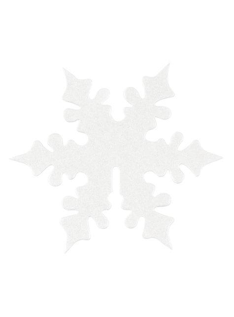 10 adornos para vasos de copo de nieve blanco - Snowflake