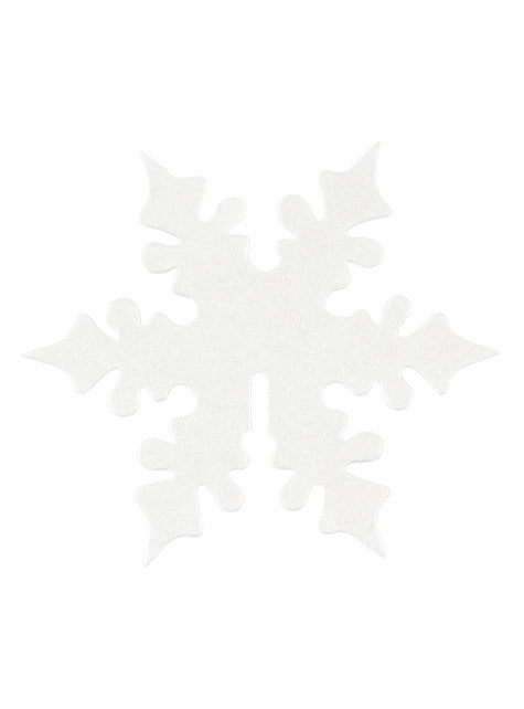 10 décorations pour verres flocon de neige blanc - Snowflake