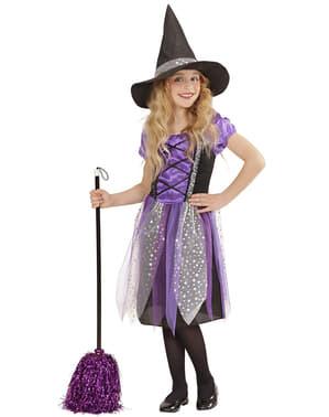 Costum de vrăjitoare steluță pentru fată