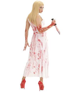 Sexy bebloede vrouw kostuum voor vrouw