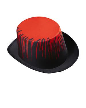 Sombrero de copa ensangrentado