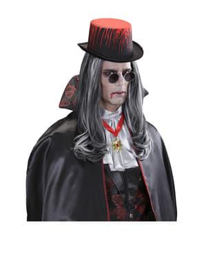 Ασημένιο καπέλο με αιματοβαμμένο χρώμα