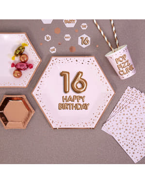 8 pratos hexagonais