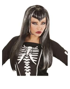 Womens V-образна ресничка скелет перука