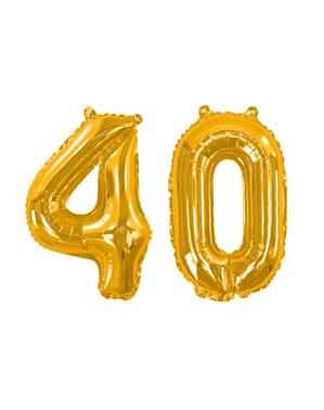 """Złoty balon foliowy """"40"""" - Glitz & Glamour Black & Gold 40cm"""