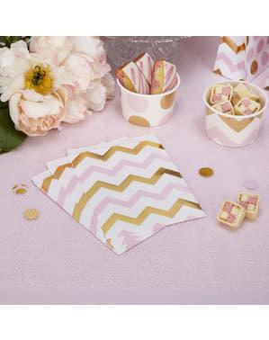 Zestaw 25 papierowe torebki w różowe & złote zygzaki – Pattern Works