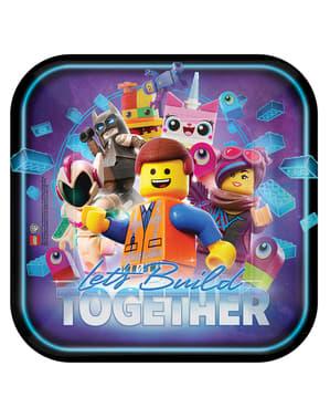 8 Lego 2 Square Plate (23 cm) - Lego Movie 2