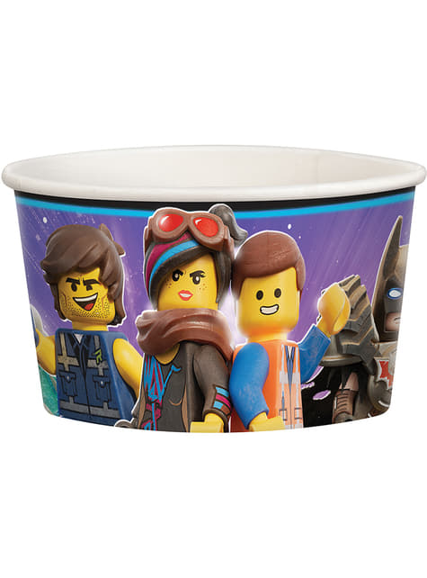 8 vasitos para helado de Lego 2 - Lego Movie 2