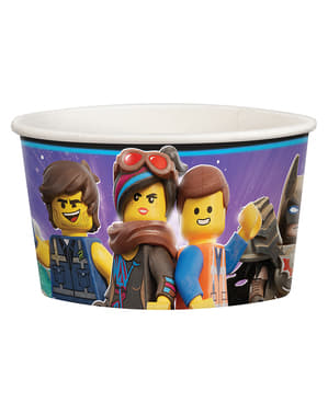 8 copinhos para gelado de Lego 2 - Lego Movie 2