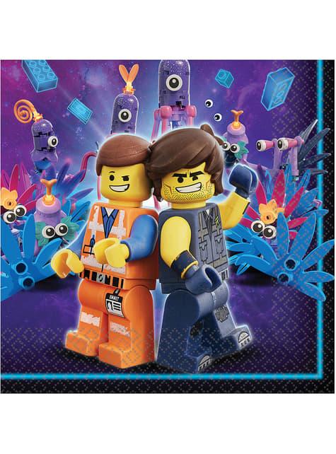 Set of 16 Lego 2 Napkins - Lego Movie 2