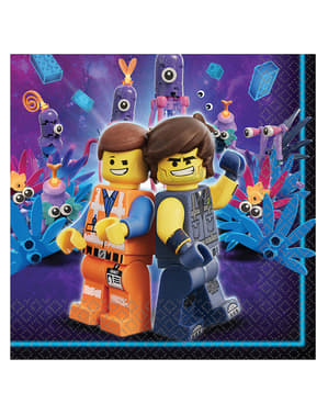 16 servilletas de Lego 2 (33x33 cm) - Lego Movie 2