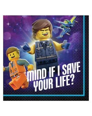 16 Serviettes en papier cocktail  Lego 2 -La Grande Aventure Lego 2