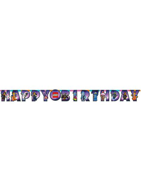 Lego 2 Happy Birthday Banner - Lego Movie 2