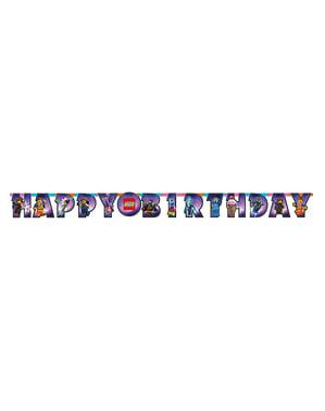 Guirlande Happy Birthday Lego 2 - La Grande Aventure Lego 2