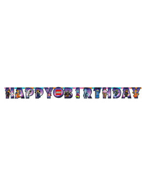 Lego 2 Happy Birthday Banner - Lego Movie 2