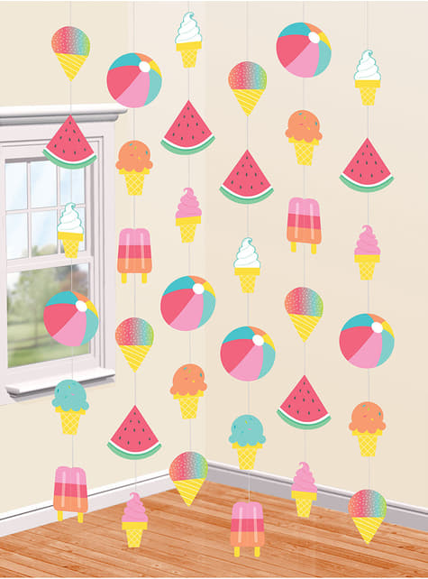 Ice Cream and Watermelons Party Curtain - Just Chillin