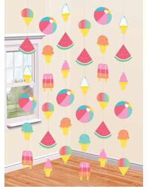 Сладолед и дини парти завеса - само чилин