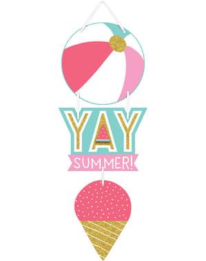 Cartaz de gelado para festa de verão - Just Chillin