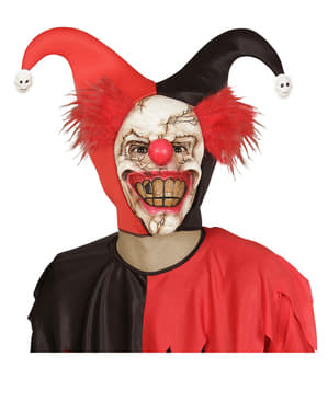 Zombie Clown Mask with Hair