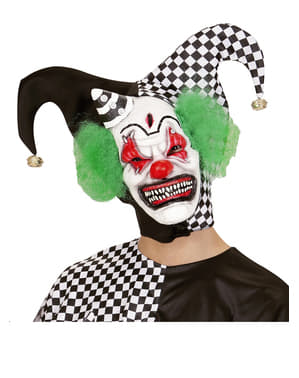 Killer Clown Mask with Hair and Mini Hat
