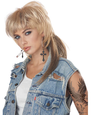 Ξανθιά Rocker περούκα για τις γυναίκες