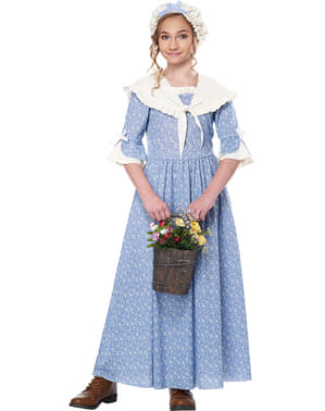 Colonial Peasant Costume for Girls