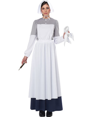 Fato de enfermeira da Guerra Civil para mulher