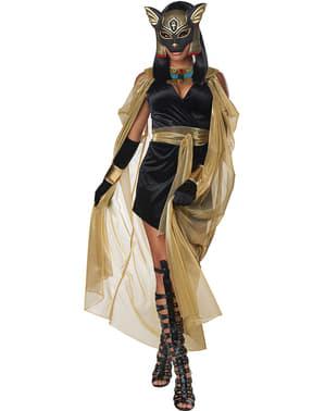 Fato de deusa egípcia Bastet para mulher