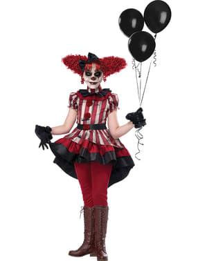 Evil clown kostuum voor meisjes