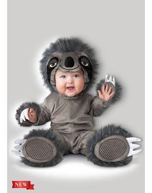 Fato de urso preguiçoso adorável para bebé