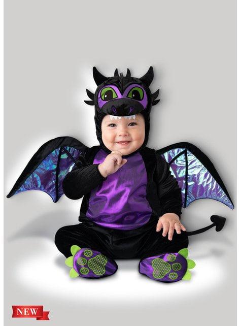 Disfraz de dragón morado para bebé