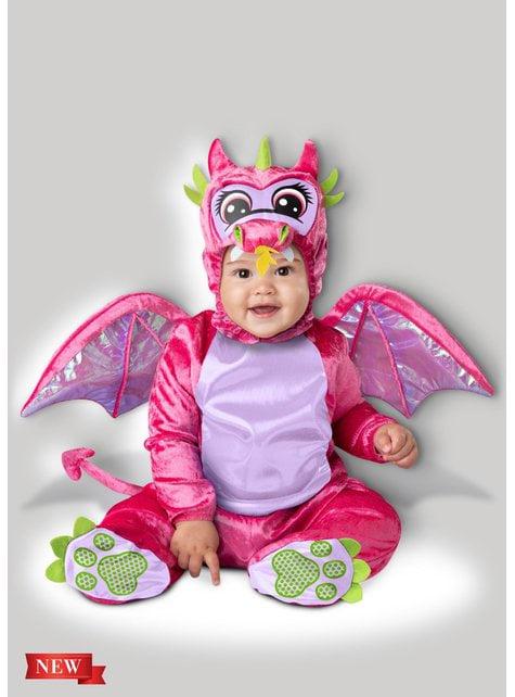 Disfraz de dragón rosa para bebé
