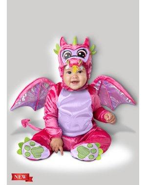 Fato de dragão cor-de-rosa para bebé