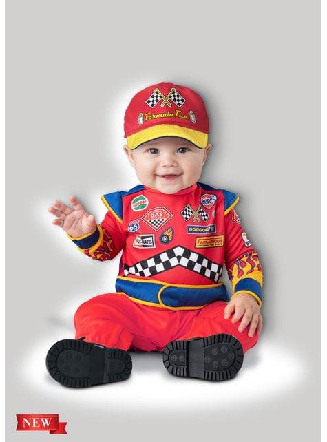 Disfraz de piloto de carreras para bebé