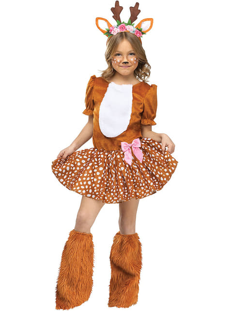 Fato de rena adorável para menina