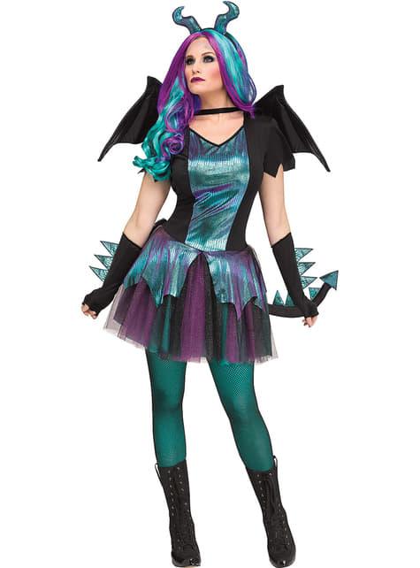 Disfraz de dragón oscuro para mujer