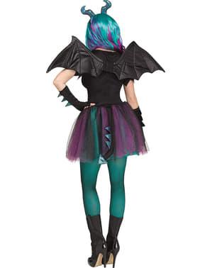 Costume da dragone scuro per donna
