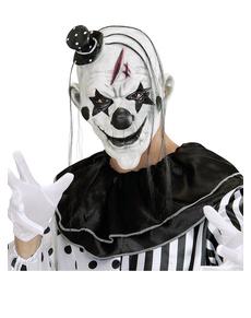 Máscara de payaso malicioso con pelo y gorrito ... 5bd4b0e37dca