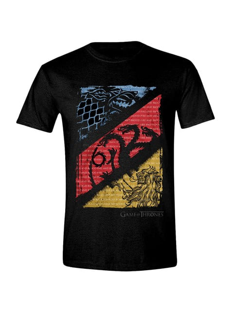 T-shirt Game of Thrones Emblemas Casas para homem